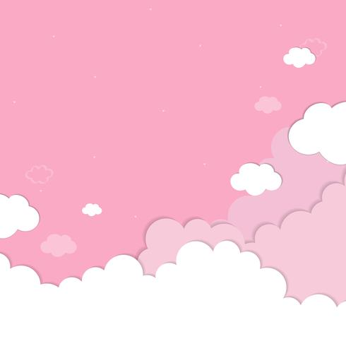 Cloudy pink sky background Download Free Vector Art