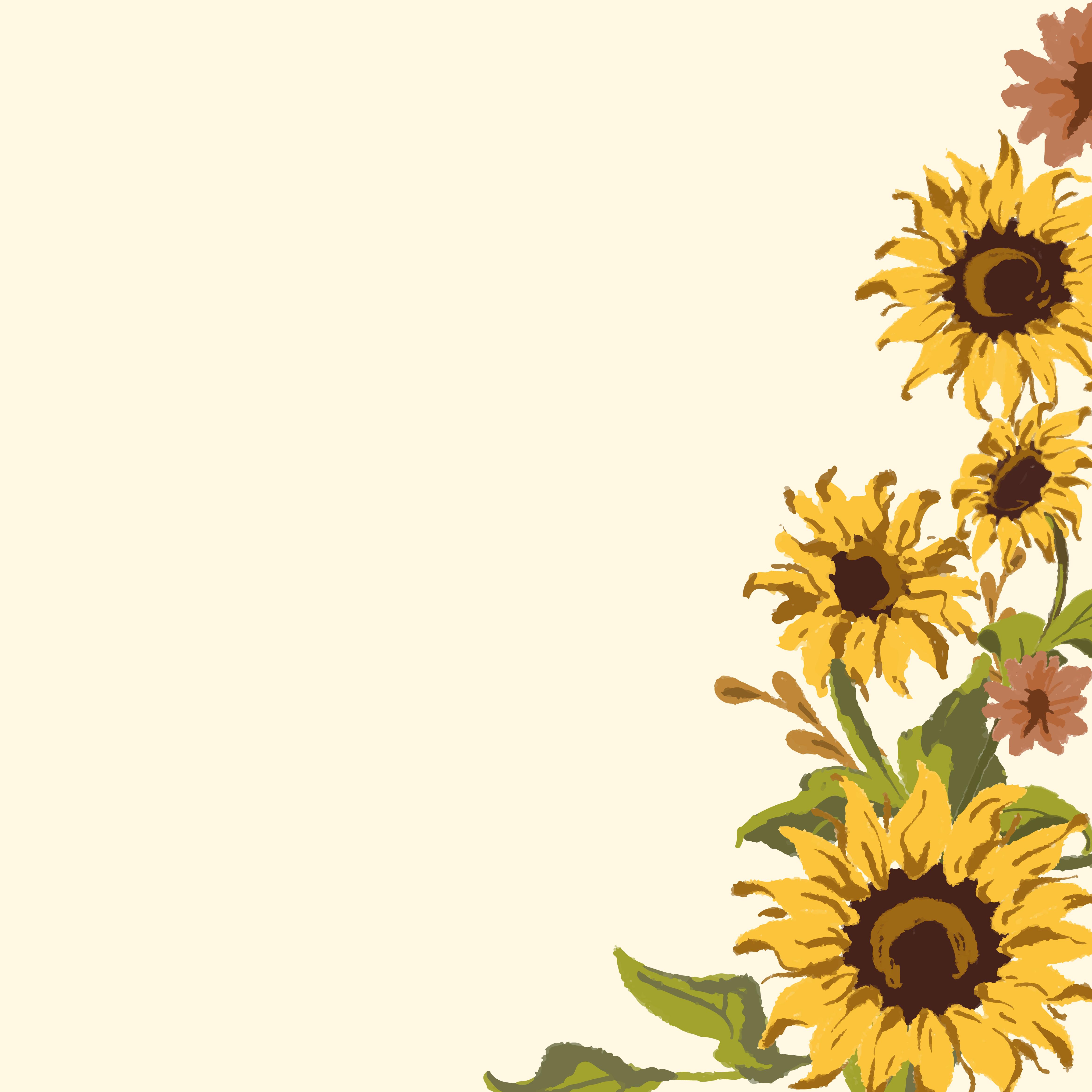 Panoramic Wallpaper Fall Sunflower Wallpaper Free Vector Art 141 Free Downloads