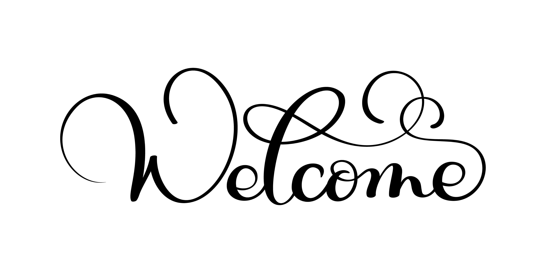 Handwritten Welcome Calligraphy Lettering Word Vector