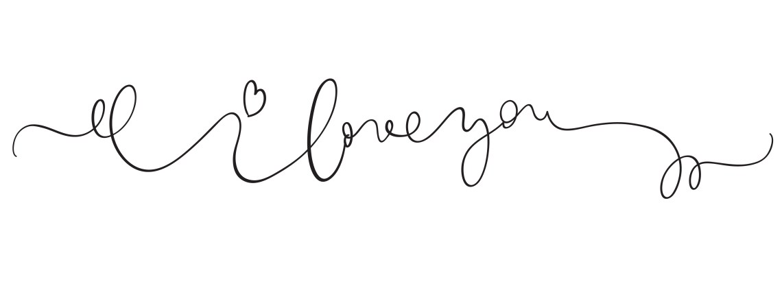 Download I love you vector vintage text on white background ...