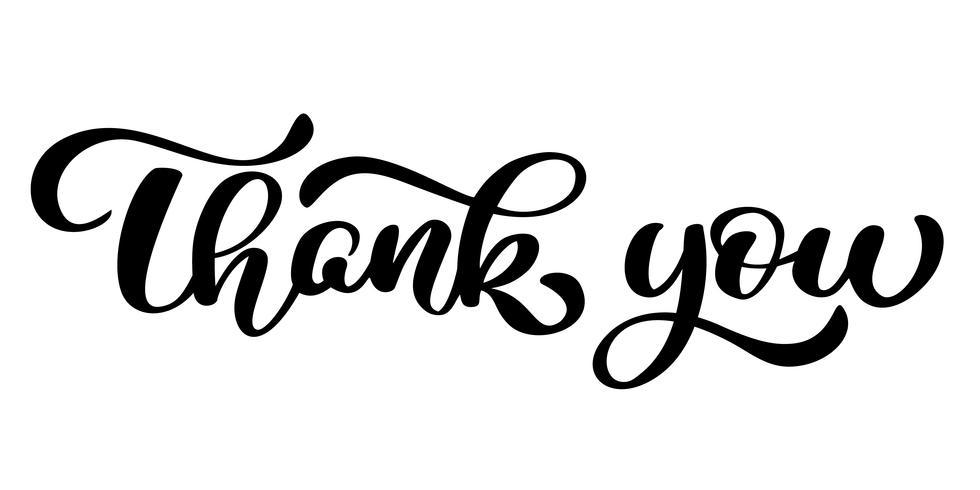 Thank You handwritten inscription. Hand drawn lettering