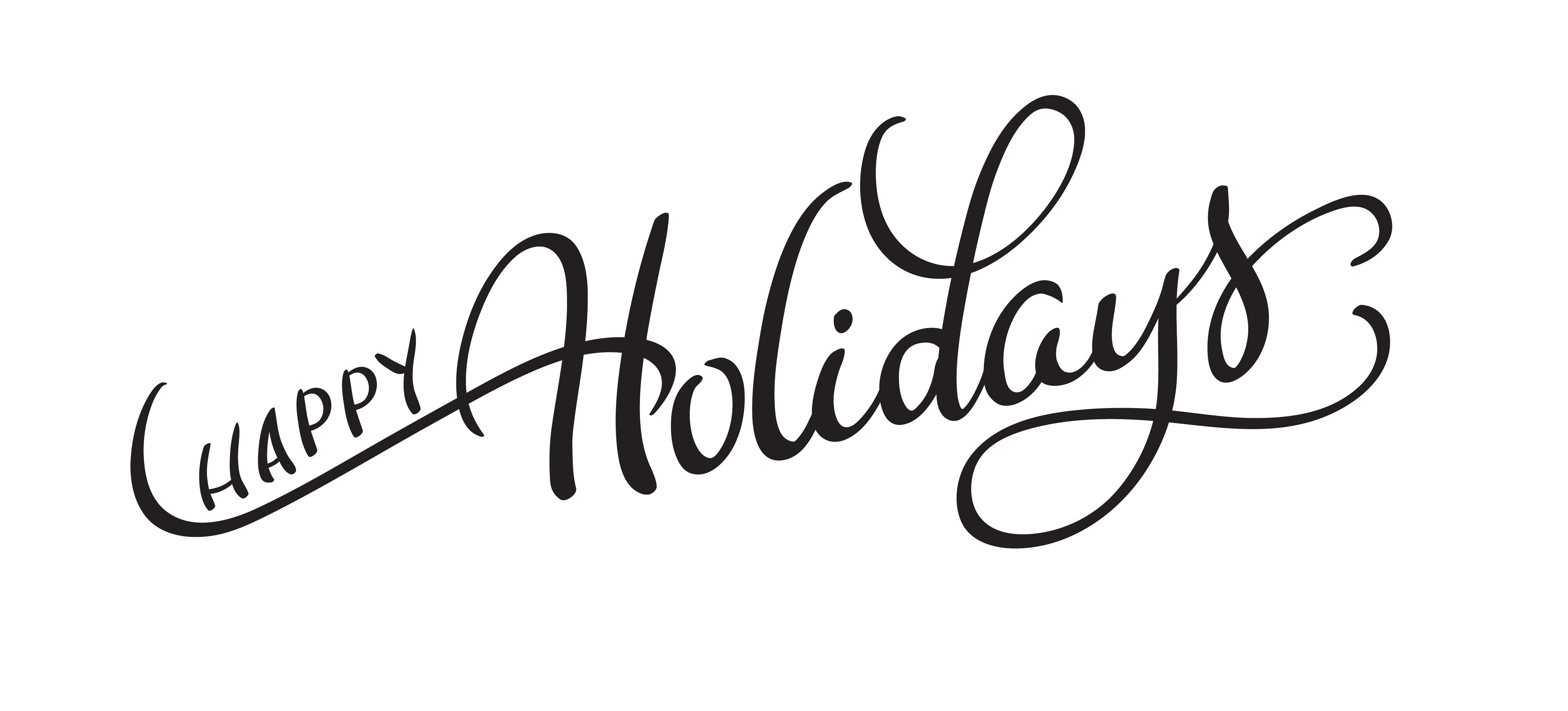Vector Text Happy Holidays On White Background