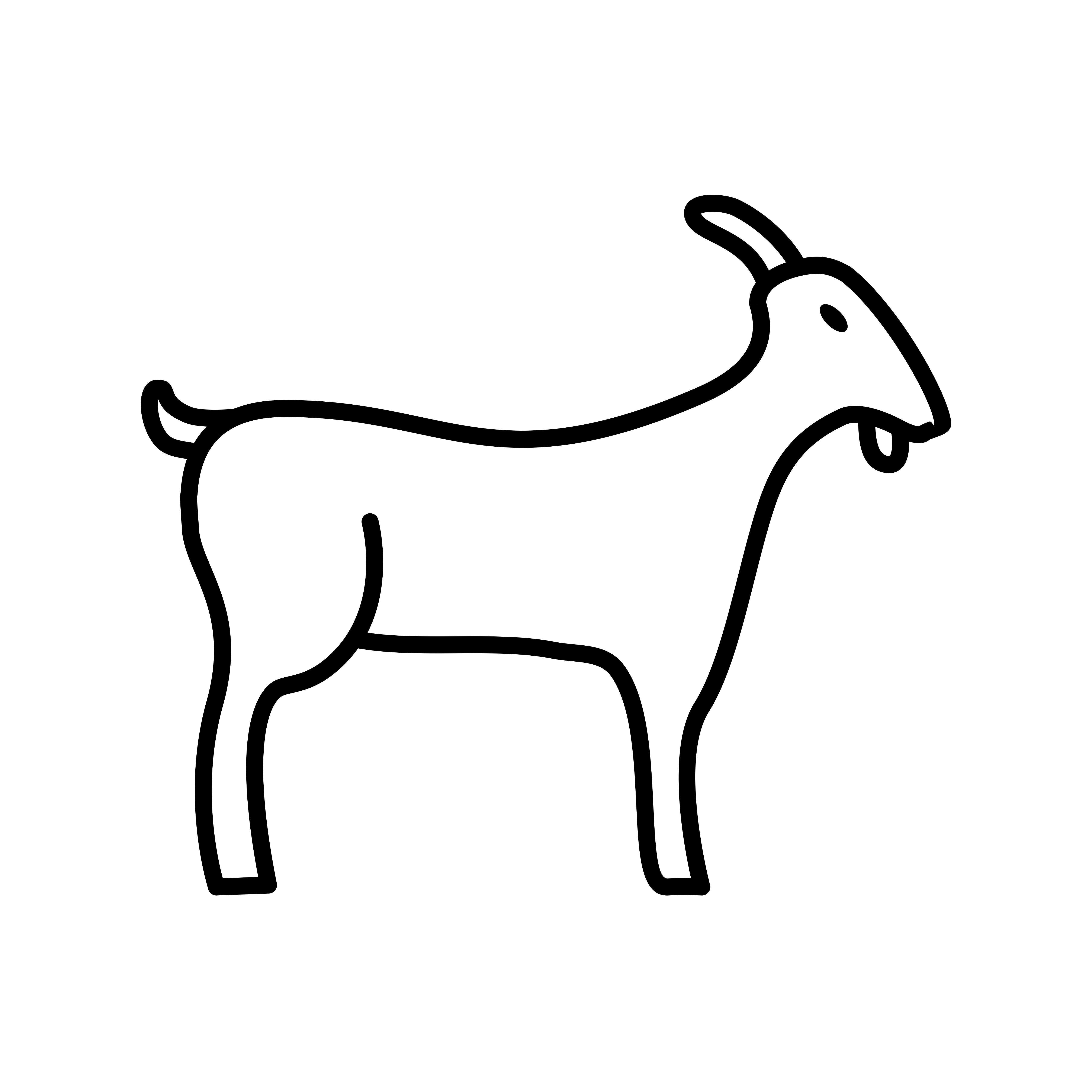 Goat Line Black Icon