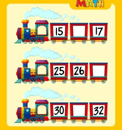 Counting numbers on train worksheet template 419525 - Download Free  Vectors [ 4990 x 4408 Pixel ]