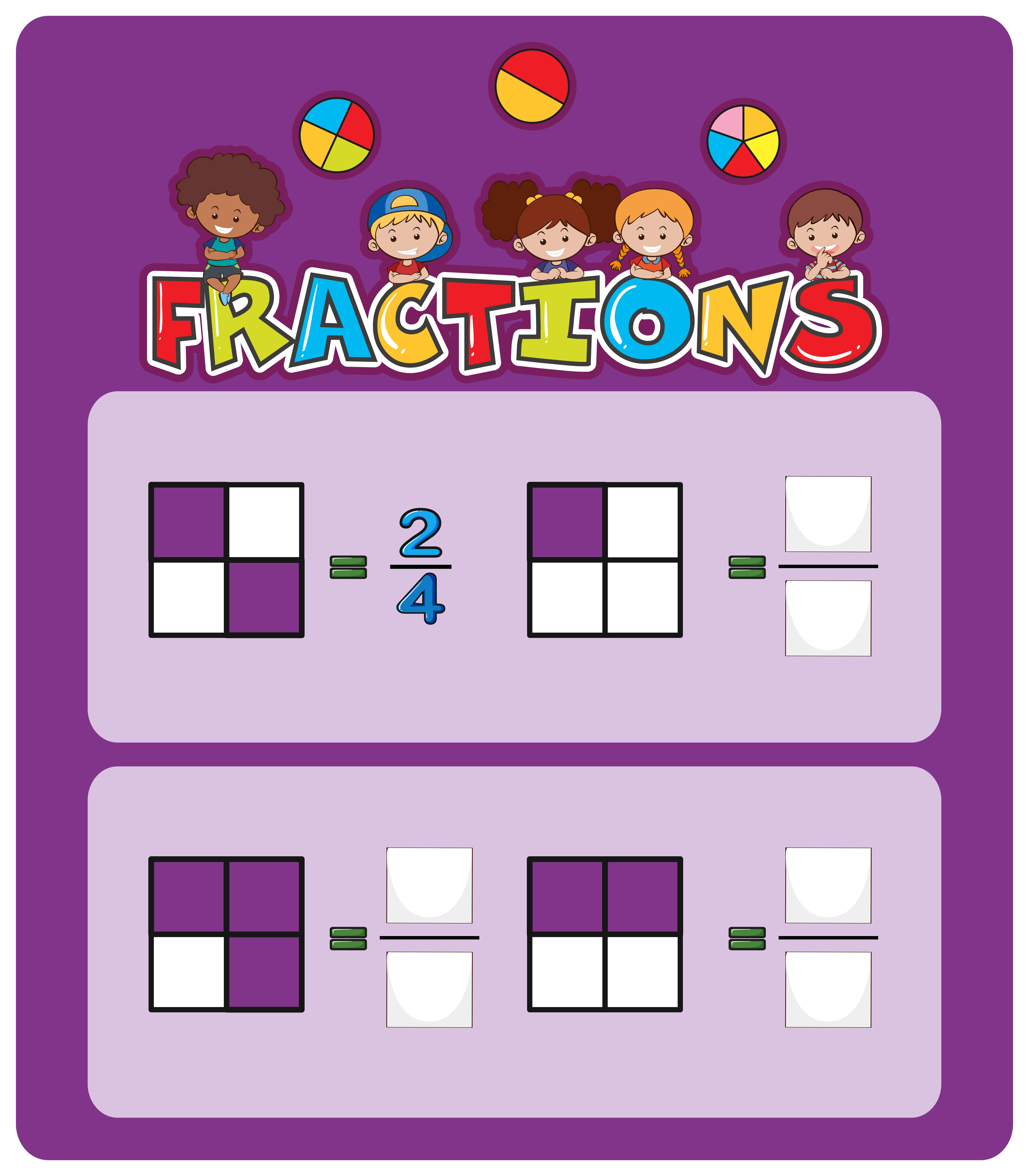 Una Hoja De Calculo De Fracciones Matematicas