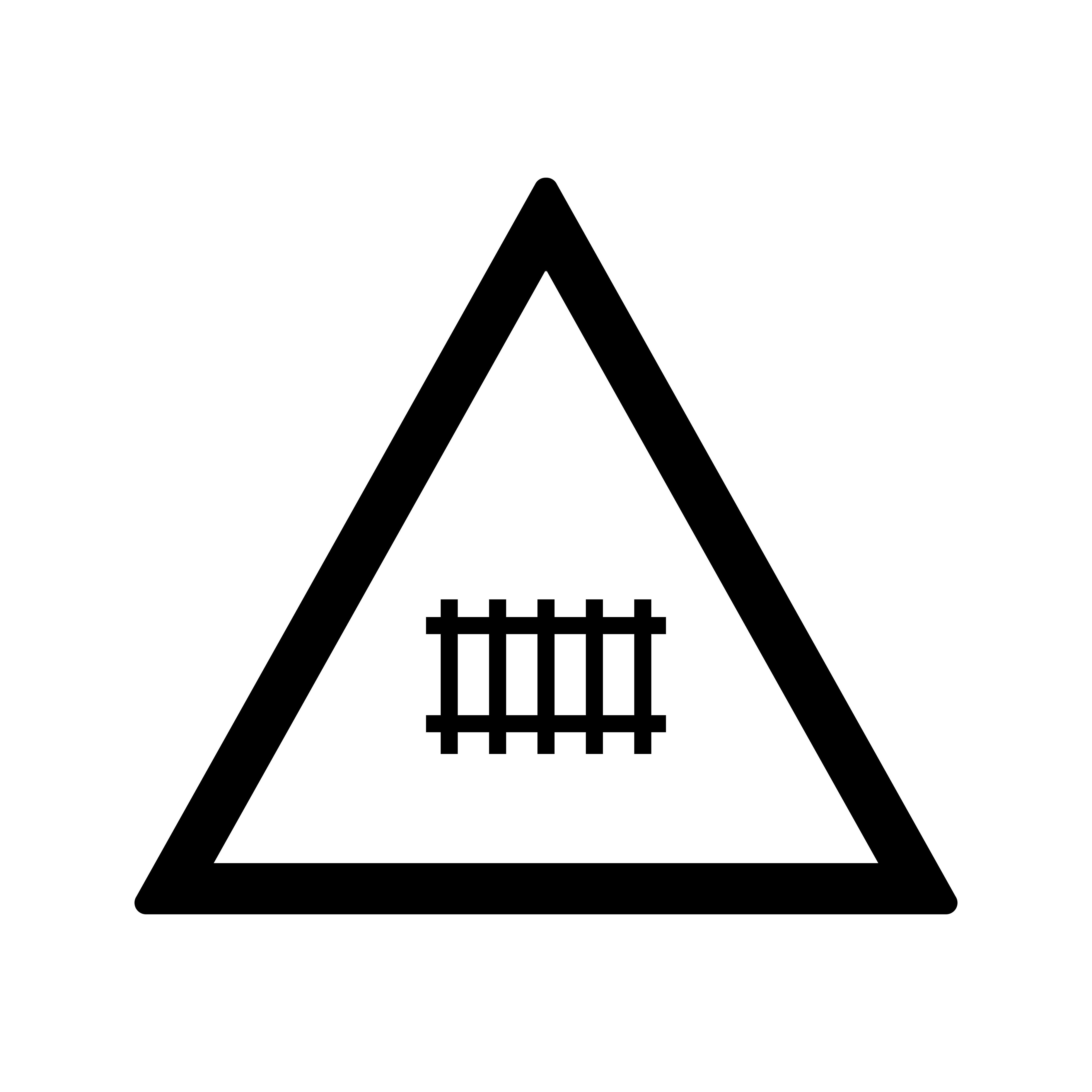Vector Level Crossing With Gate Road Sign Icon