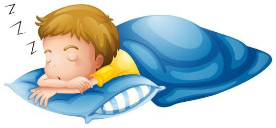 sleeping boy vector clipart illustration non
