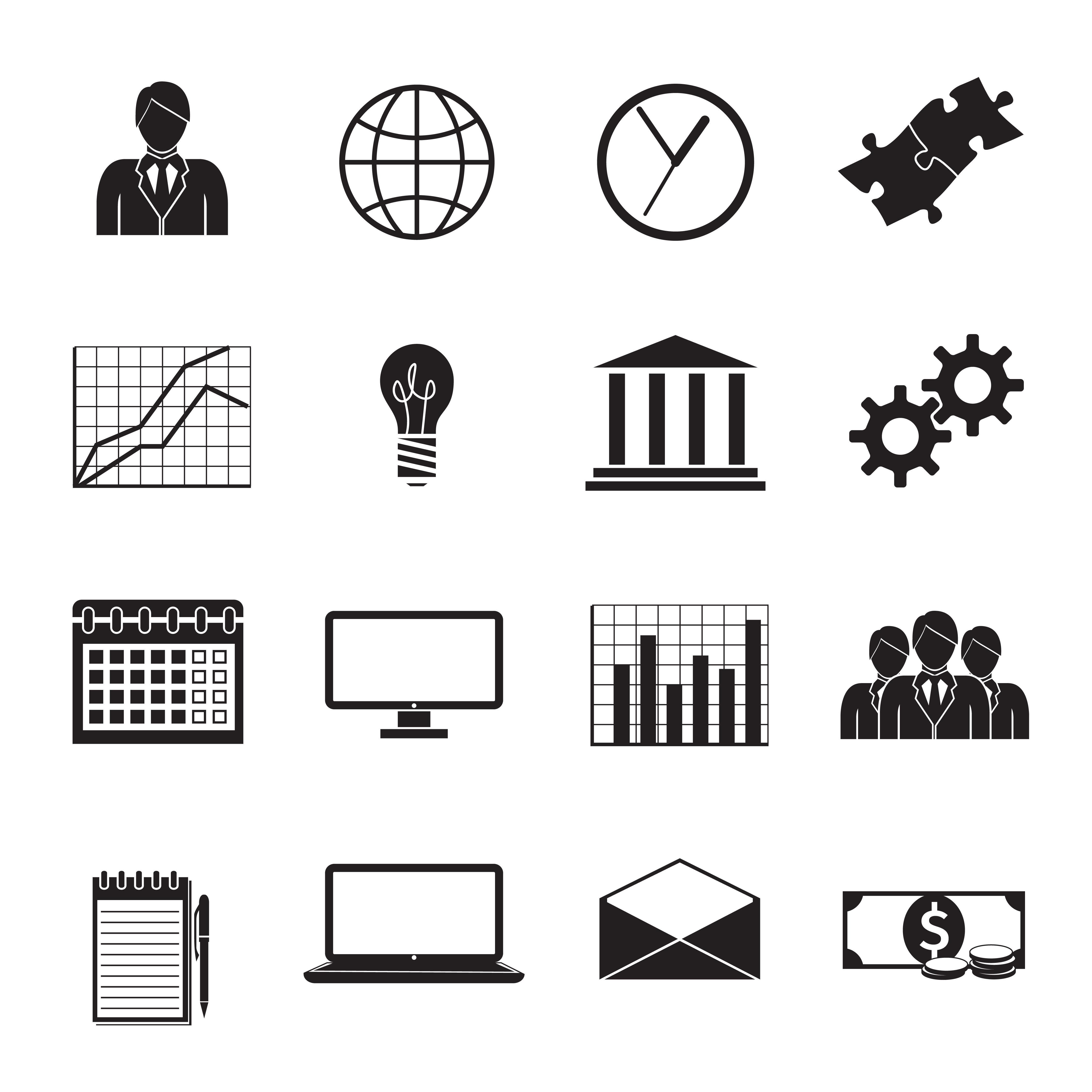 Business Flat Generic Icons Set