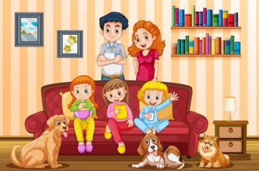 Family Living Room Clipart