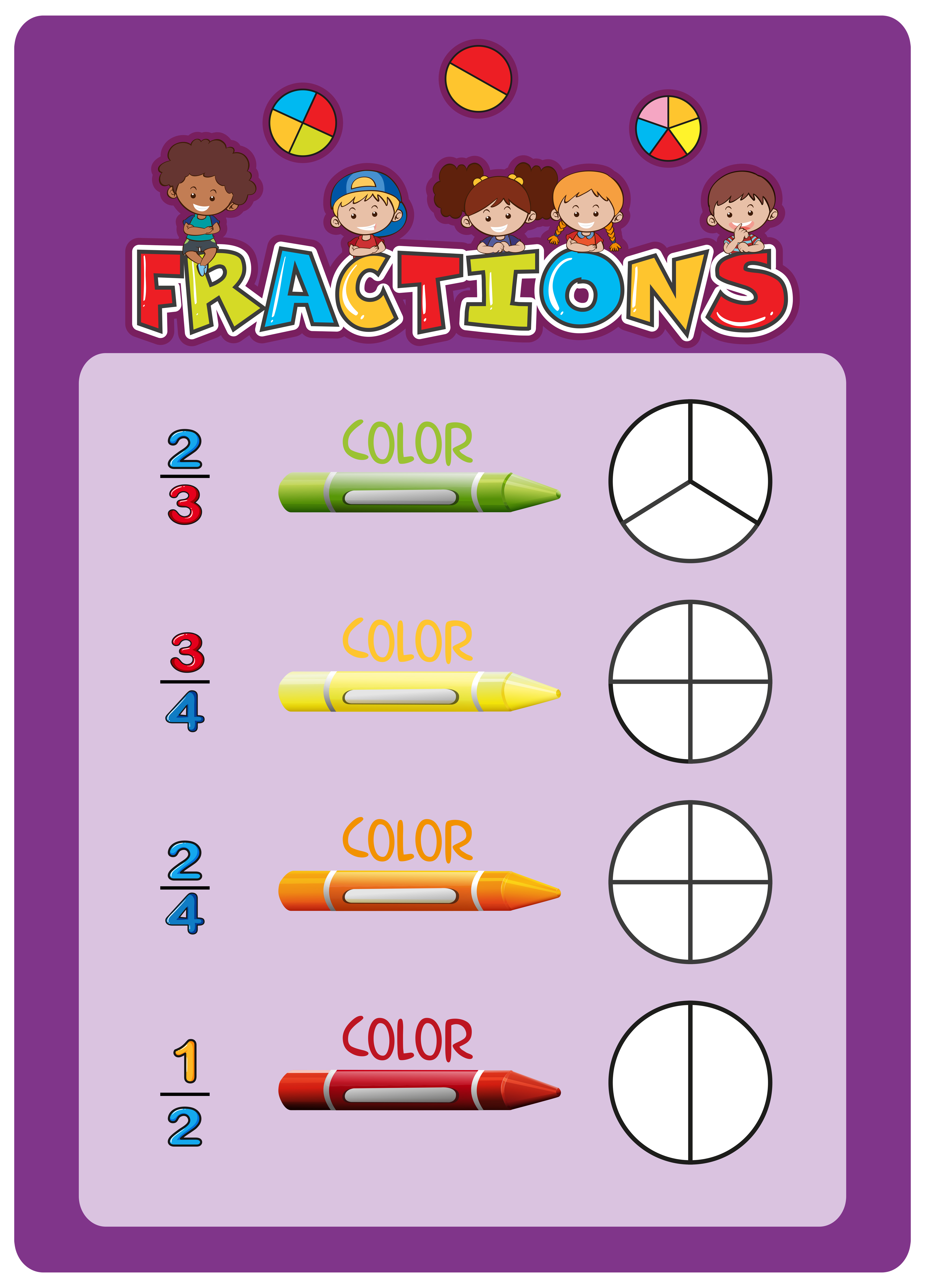 A Math Fractions Worksheet