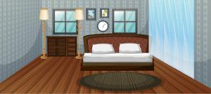 bedroom bed scene wooden vector 3d clipart vectors kid shelves keywords related vecteezy
