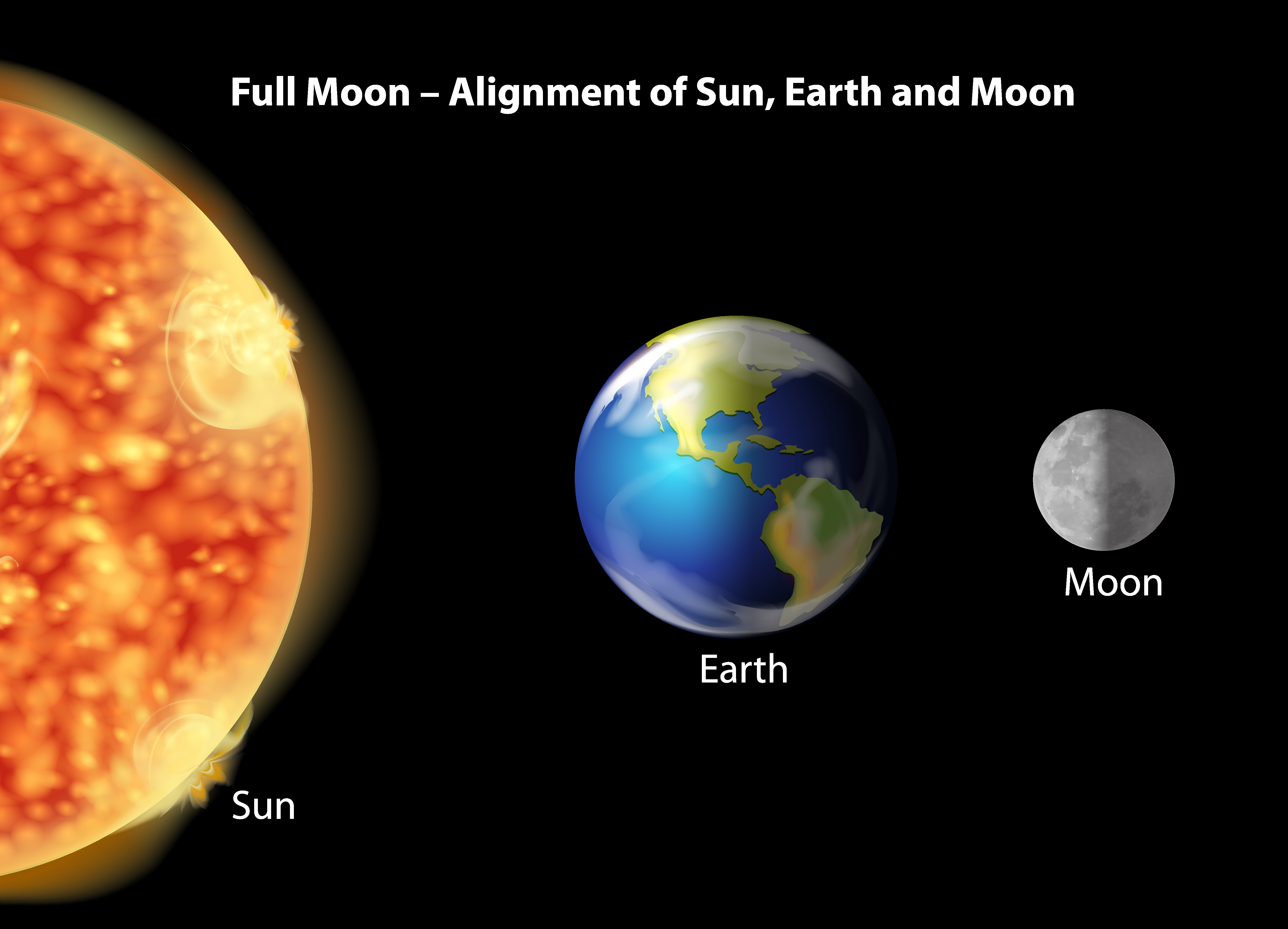 Earth Moon And Sun Alignment