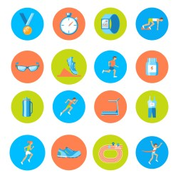 Running icons round Download Free Vectors Clipart Graphics & Vector Art