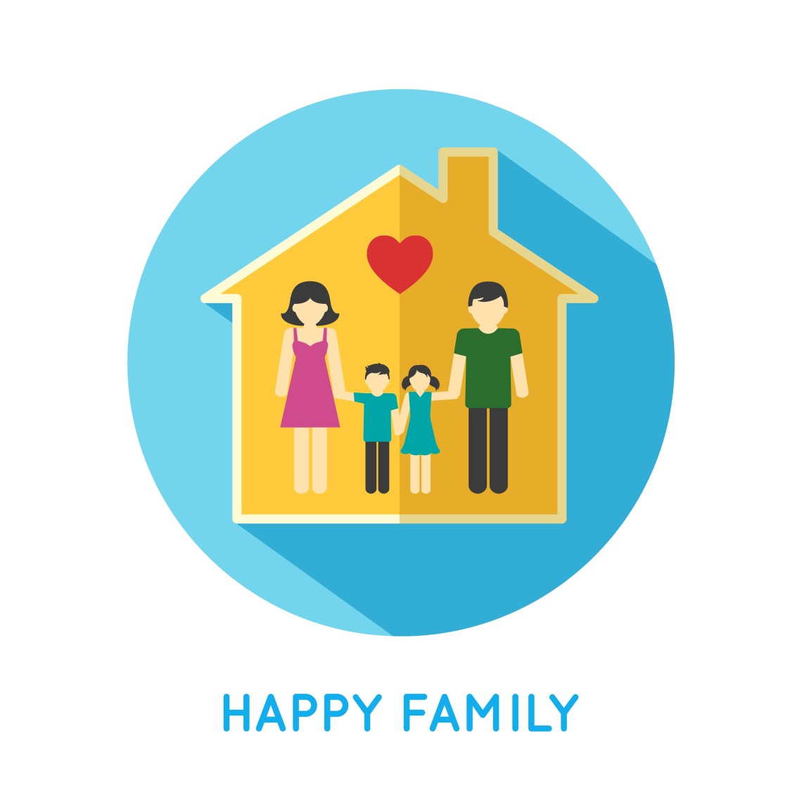 Download Family icon home - Download Free Vectors, Clipart Graphics ...