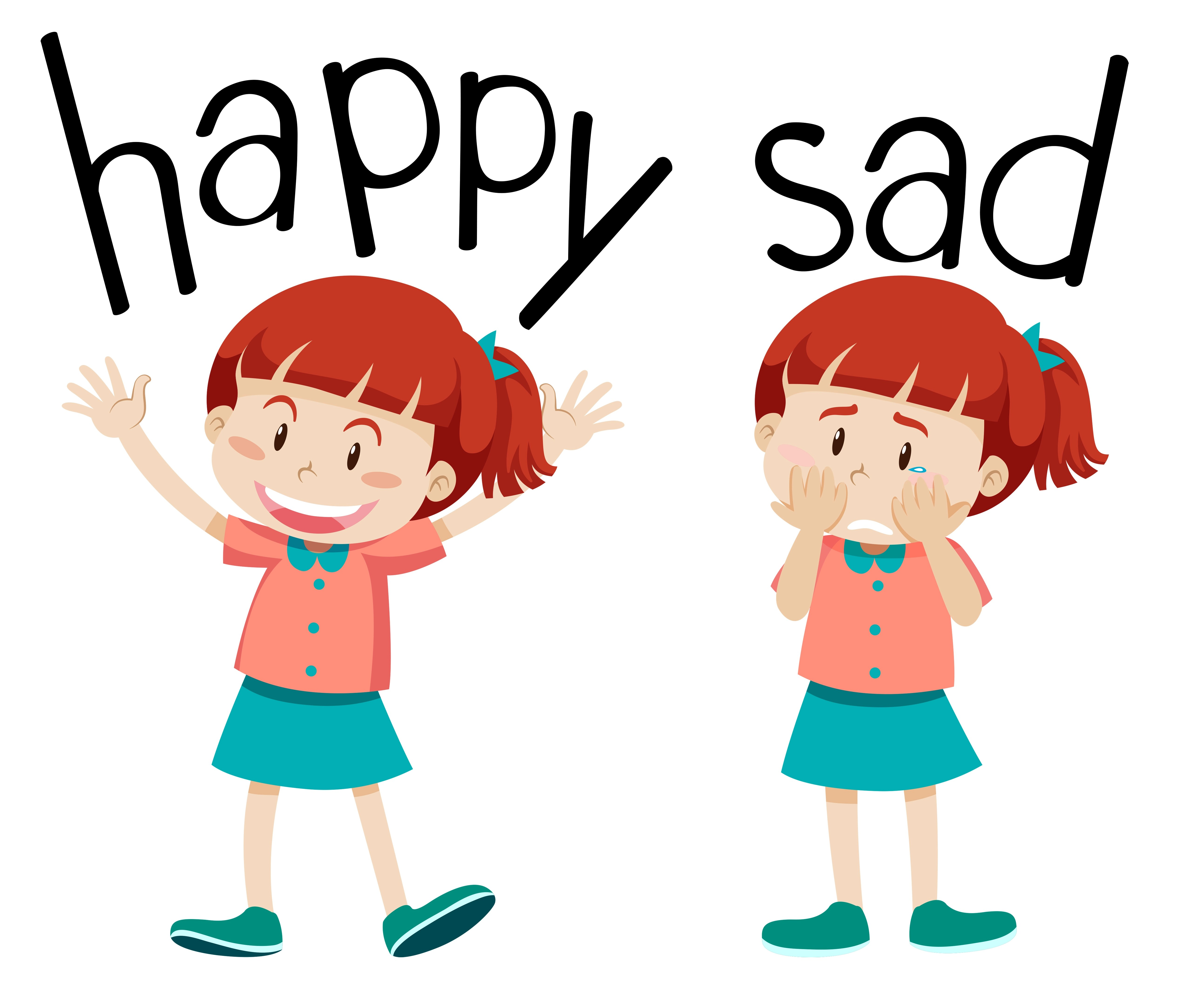 Opposite Words For Happy And Sad
