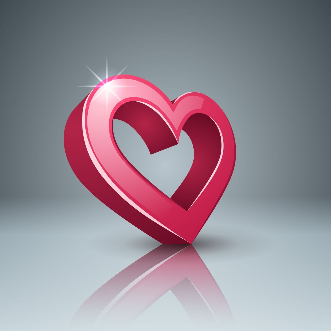 Download Realistic 3d icon. Heart and love. - Download Free Vectors ...