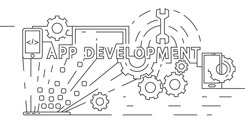 Application Development Concept. Software Developer