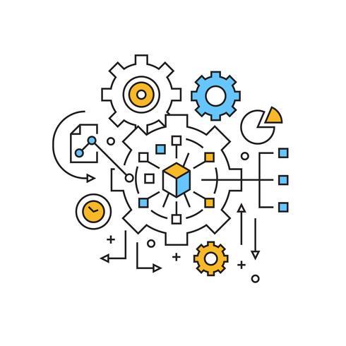 Management Illustration. Project Management Concept Flat