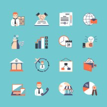 Business Icon Set - Free Vector Art Stock