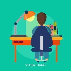 Study Hard Conceptual illustration Design Download Free Vectors Clipart Graphics & Vector Art