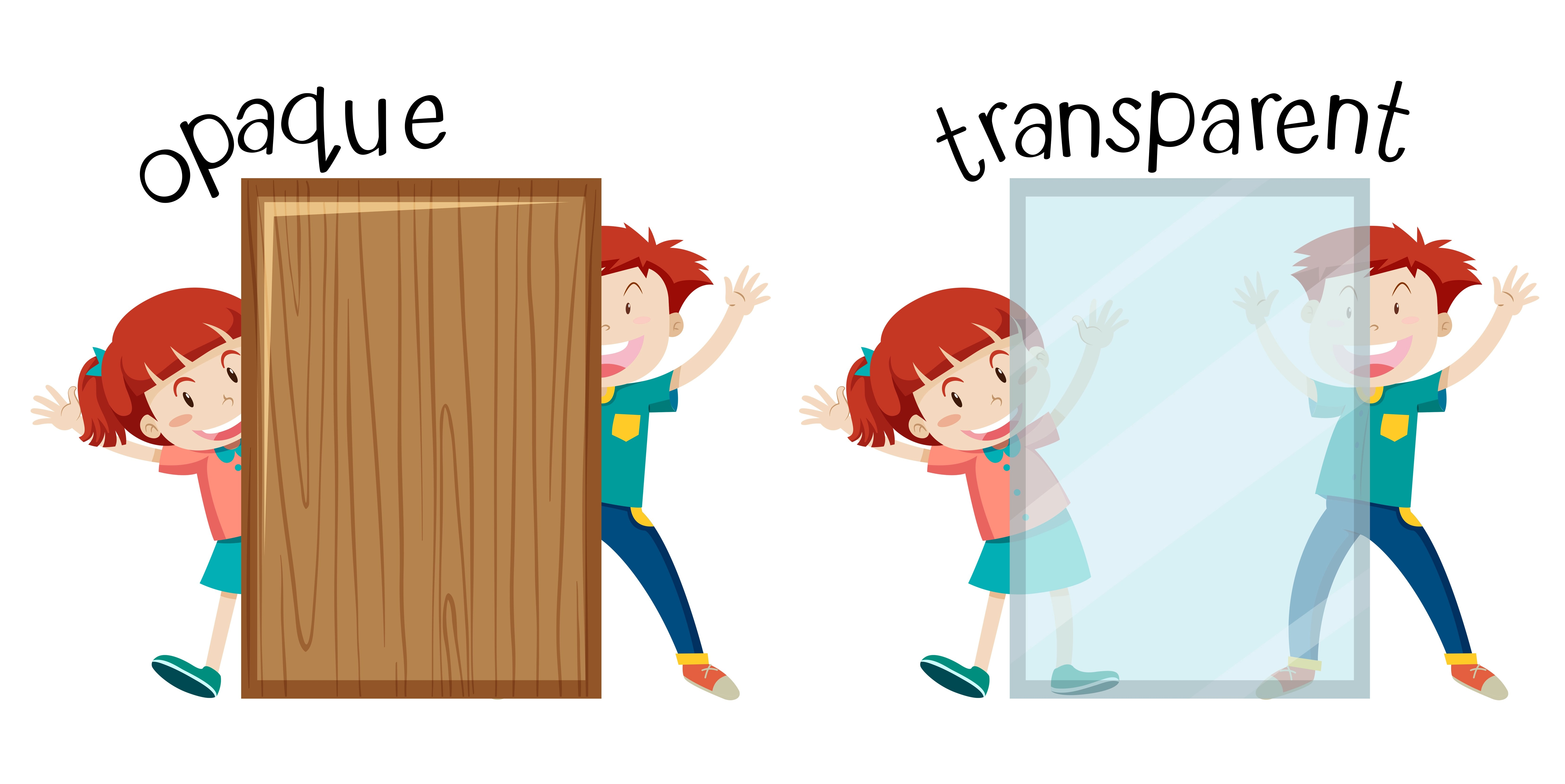 English Opposite Word Opaque And Transparent
