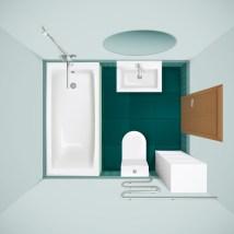 Bathroom Interior Top View Realistic - Free