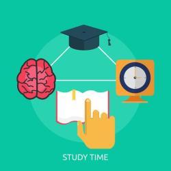 Study Time Conceptual illustration Design Download Free Vectors Clipart Graphics & Vector Art