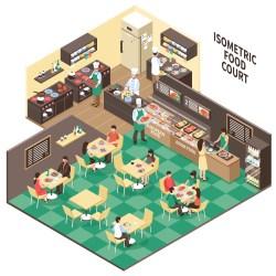 Isometric Fastfood Restaurant Interior Download Free Vectors Clipart Graphics & Vector Art