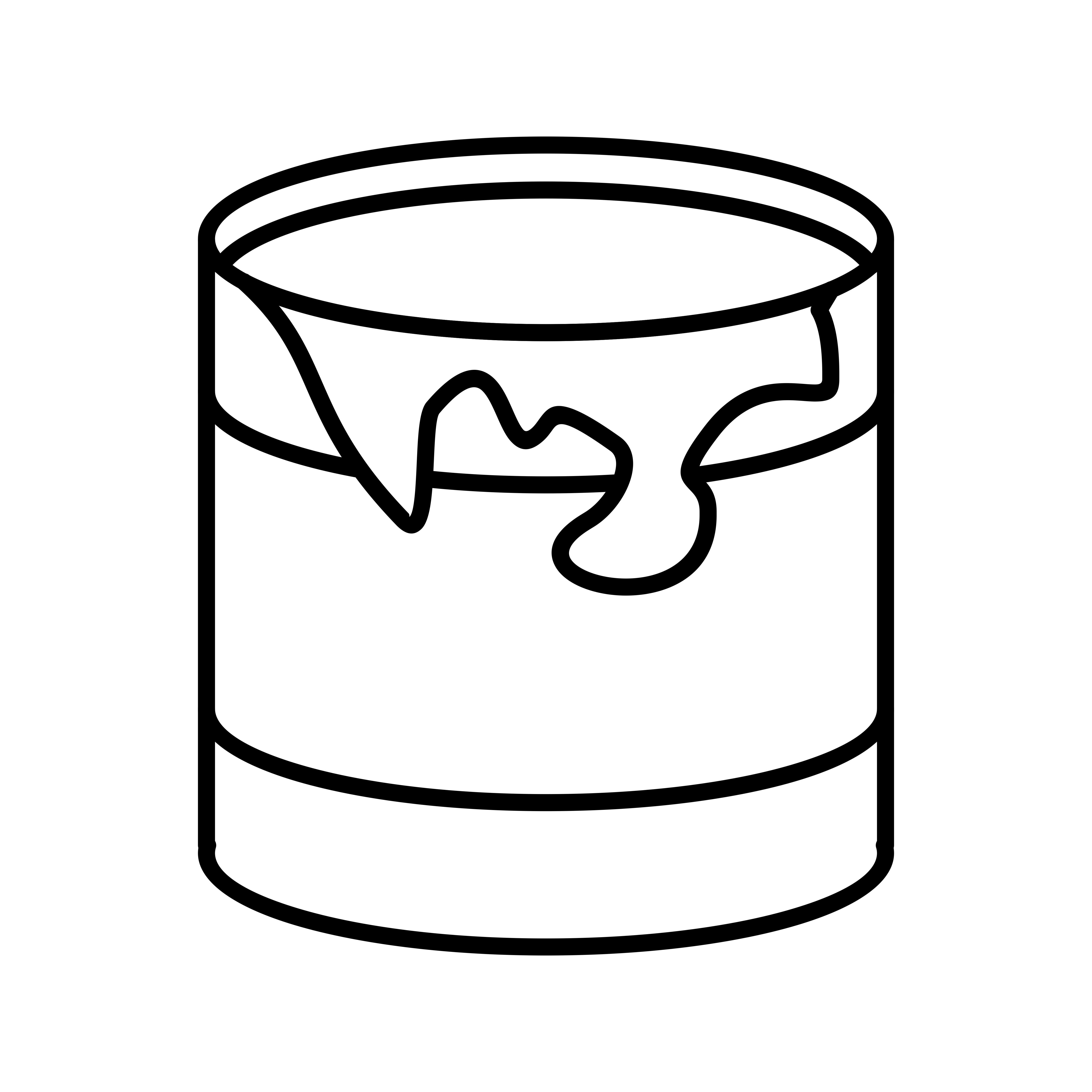 Paint Box Line Black Icon