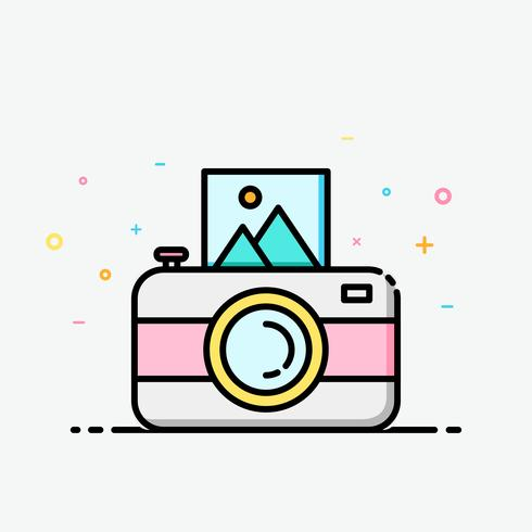 camera clipart colorful in