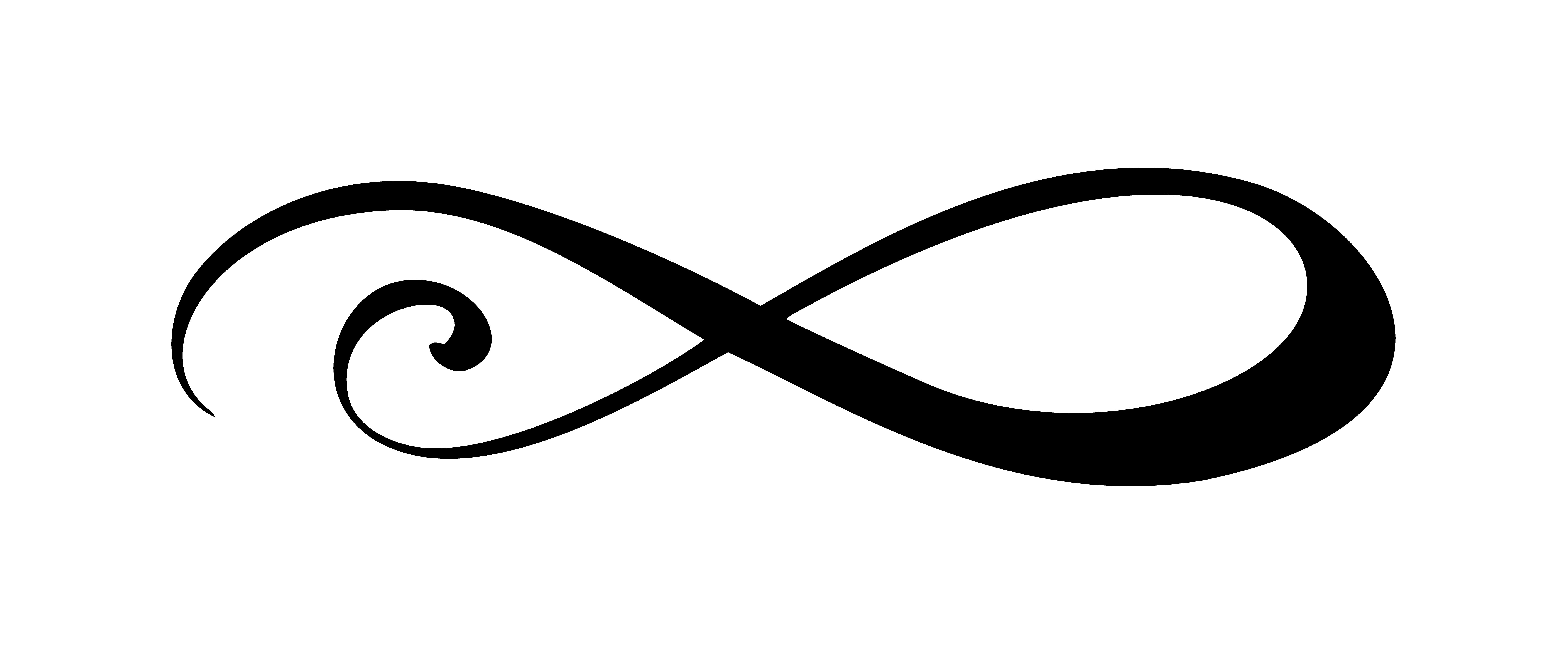 Infinity Calligraphy Vector Illustration Symbol Eternal