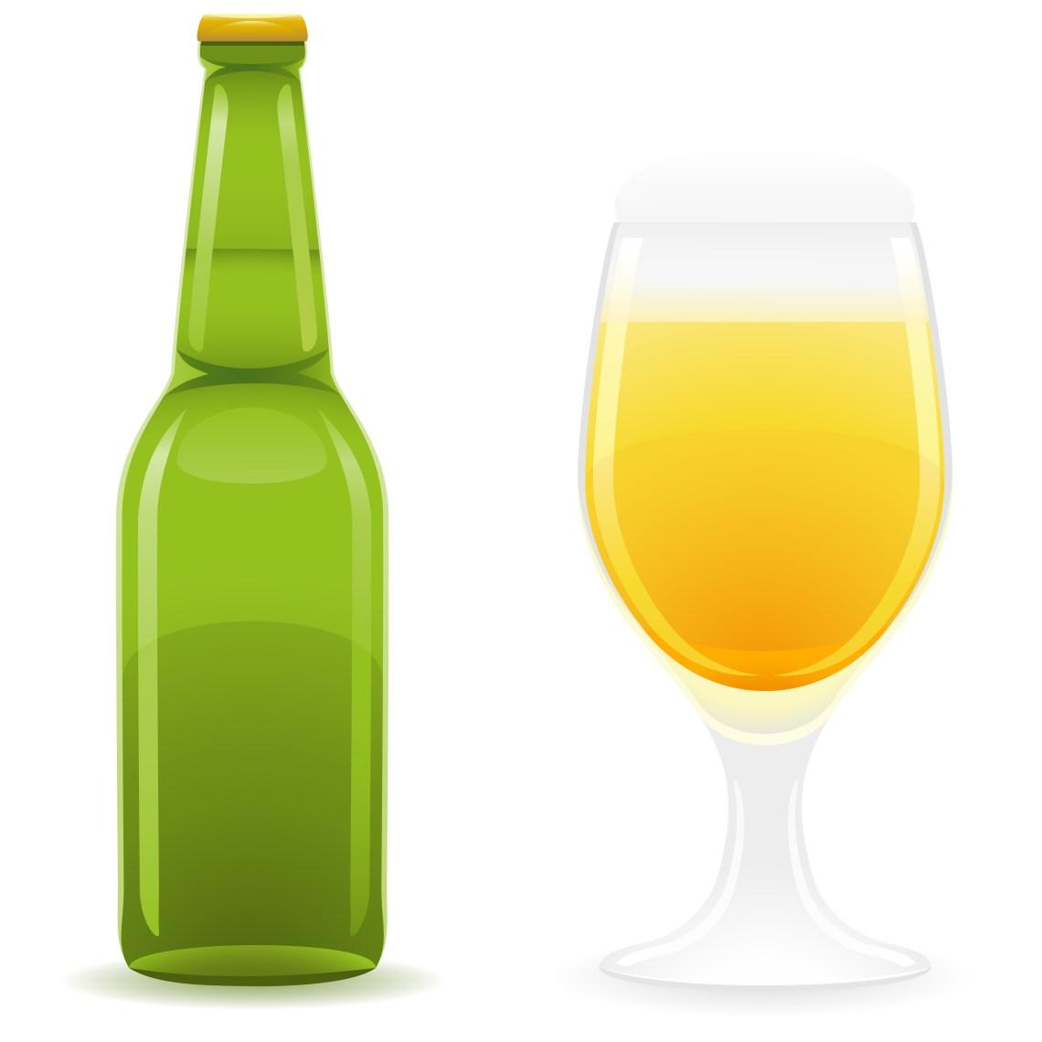 Download beer bottle and glass vector illustration - Download Free ...