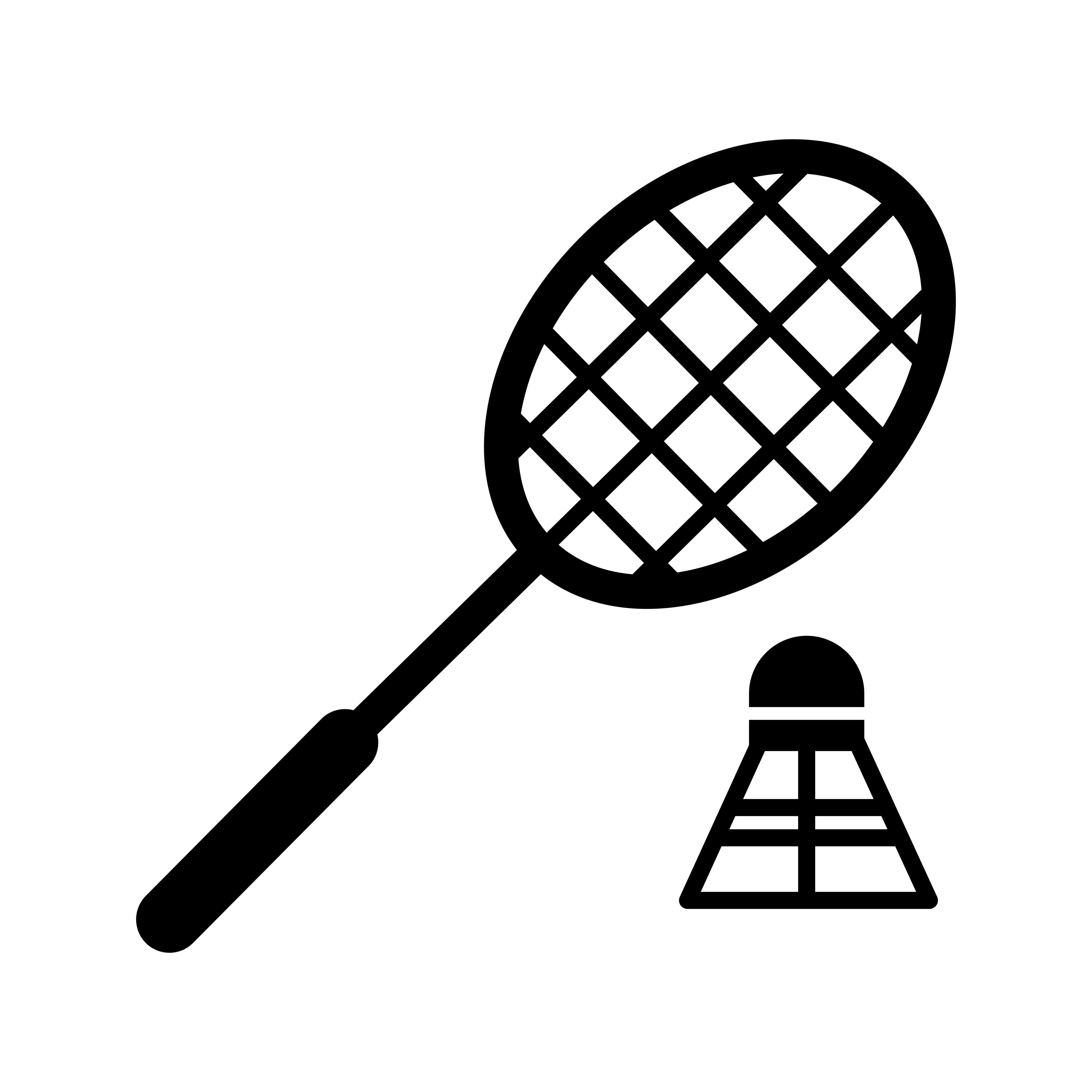 Badminton Glyph Black Icon Vector