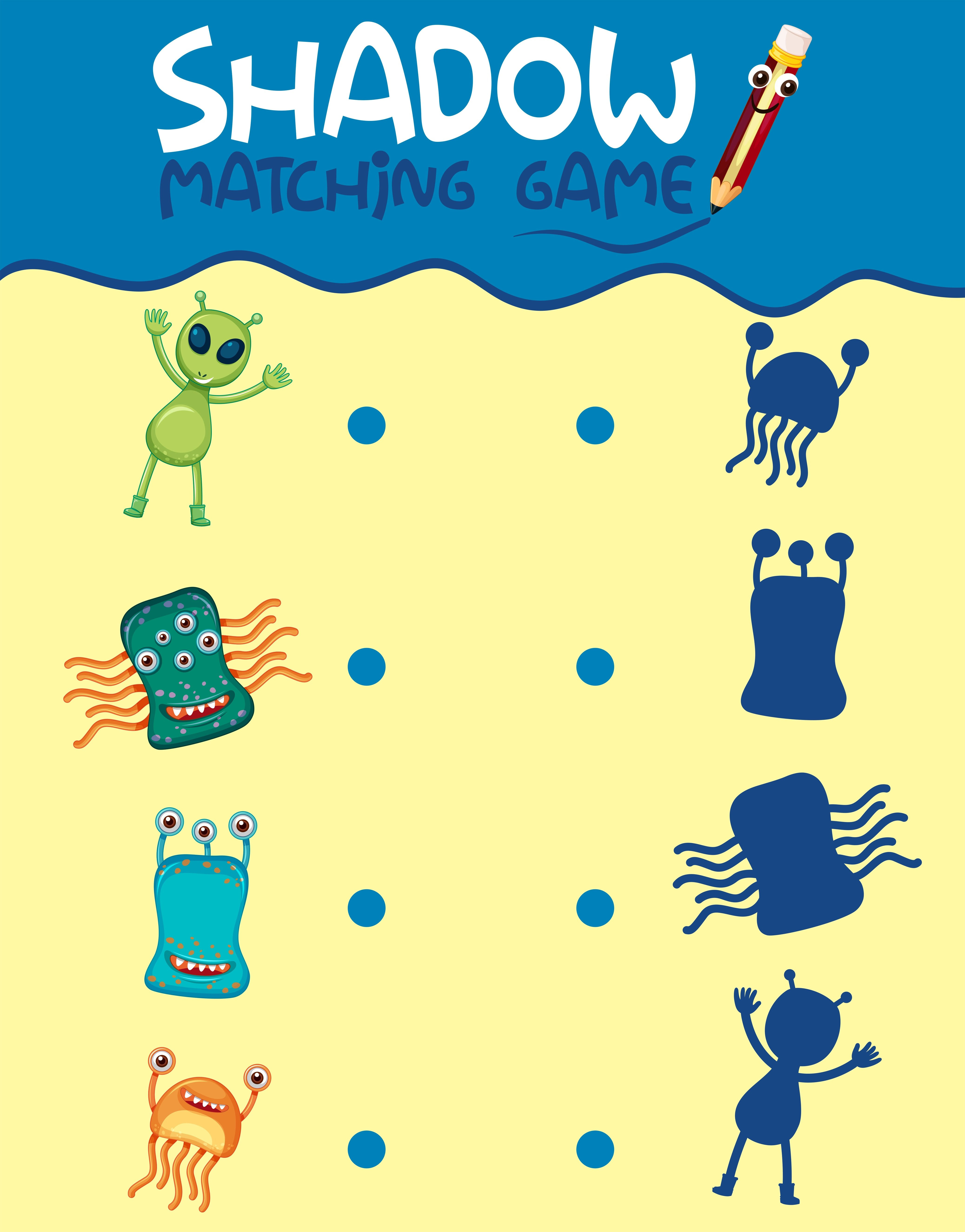 Matching Monster Shadow Game