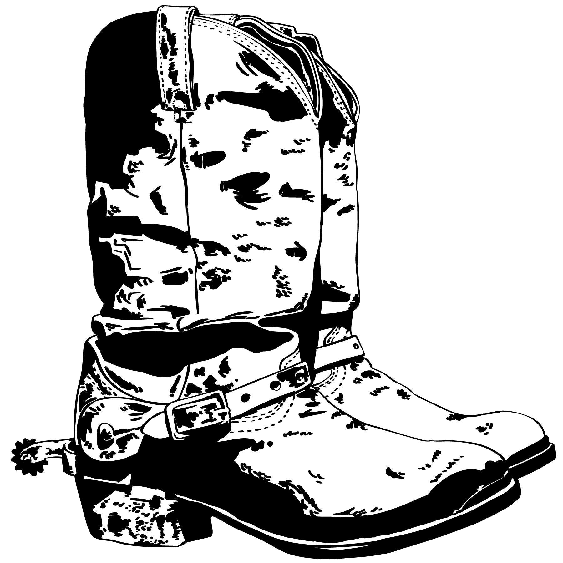 Cowboy Boot Spur Free Vector Art