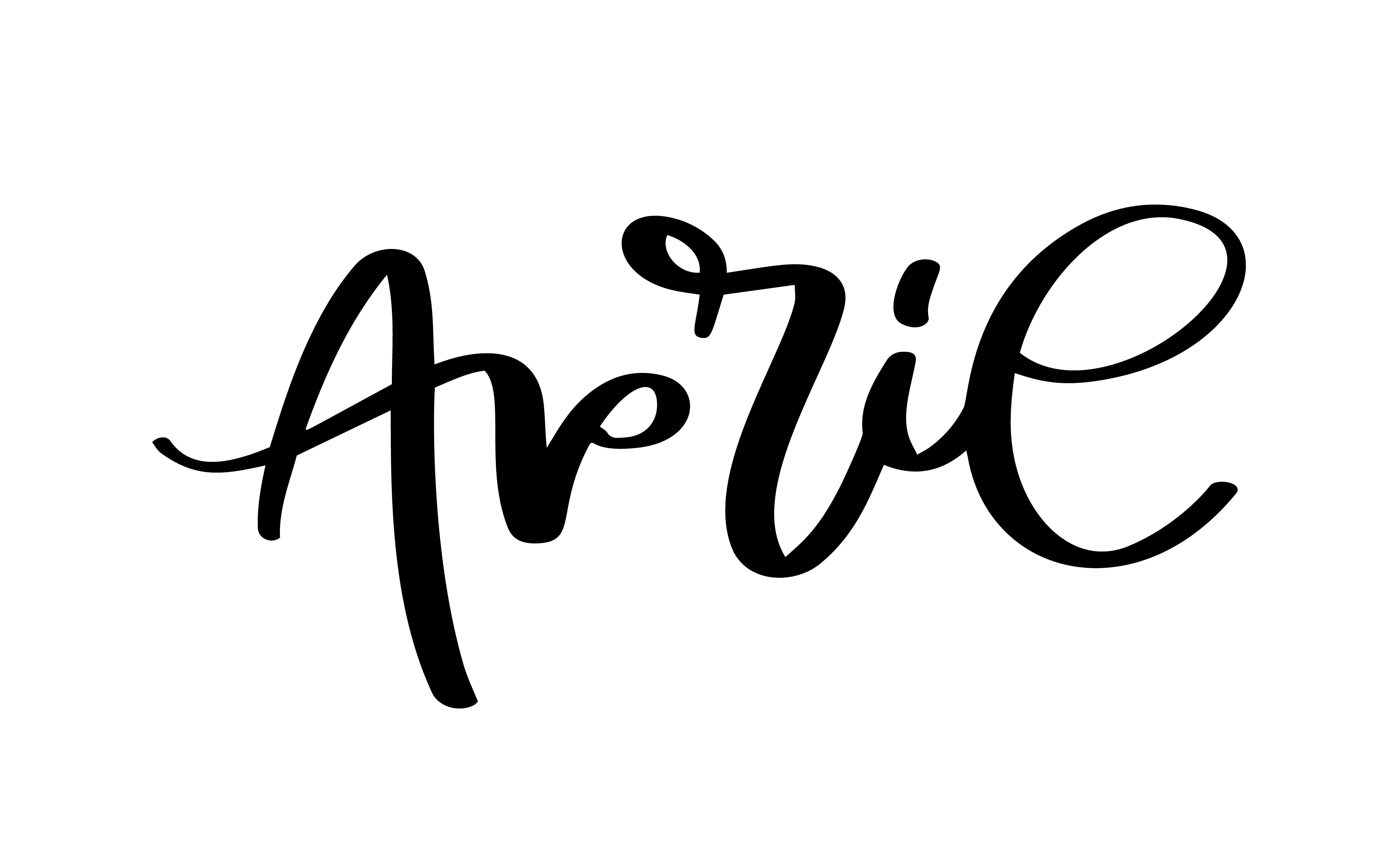 April Hand Drawn Calligraphy Text And Brush Pen Lettering