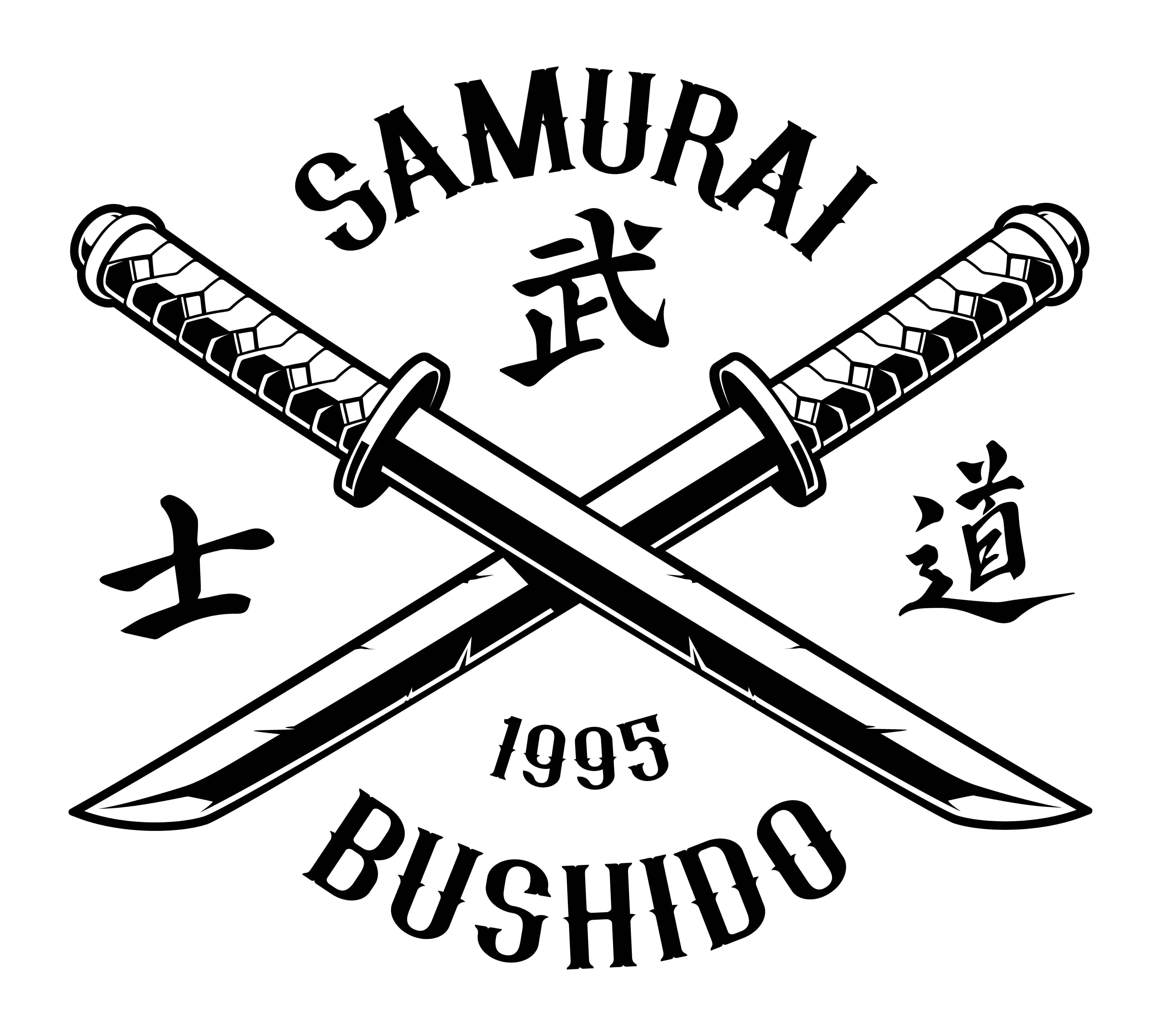 Katana Emblem On White Background
