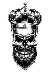 Skull of king Vector illustration Download Free Vectors Clipart Graphics & Vector Art