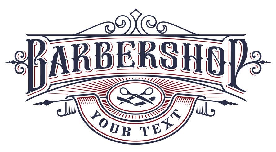 barbershop logo design on