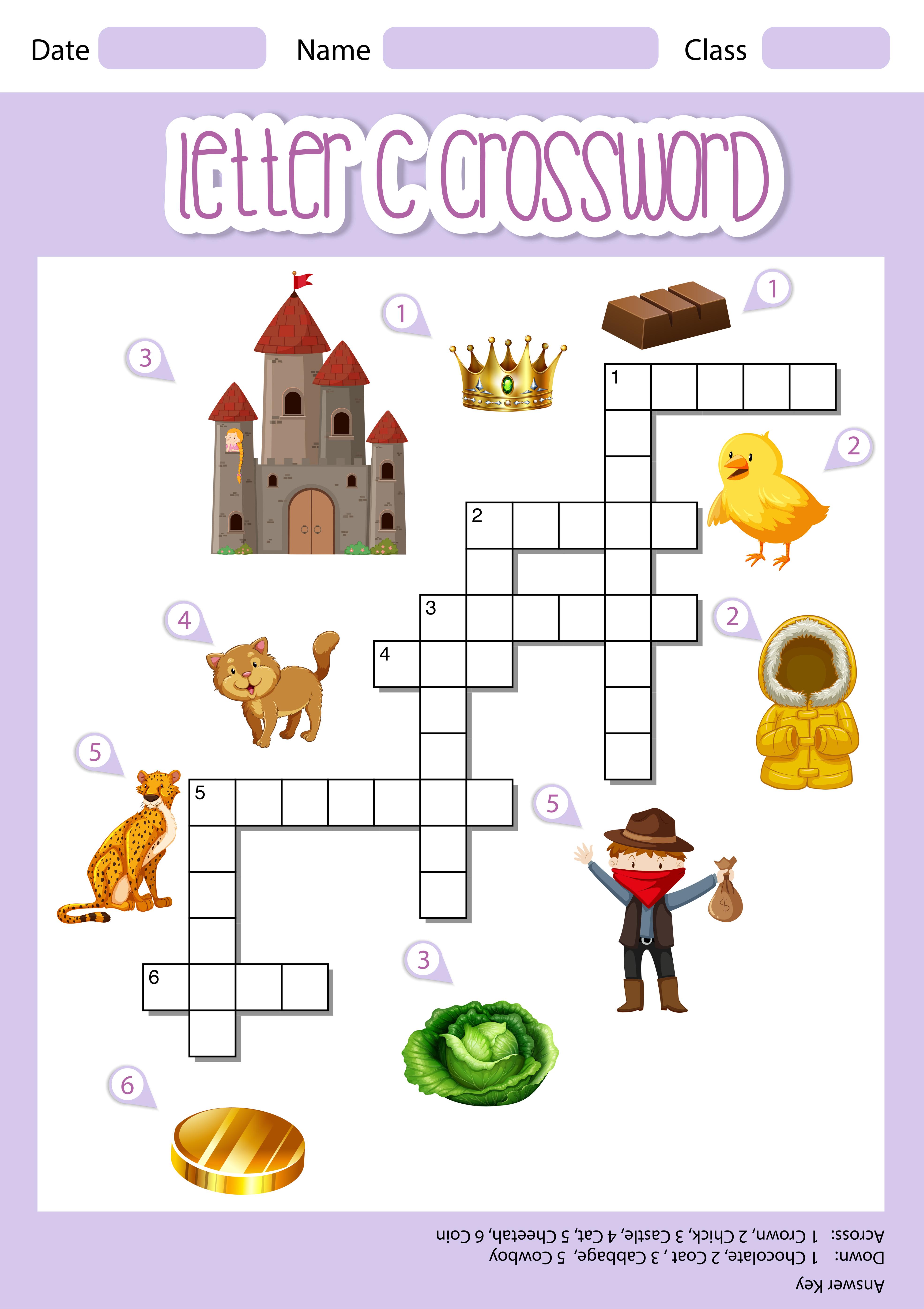 Letter C Crossword Template