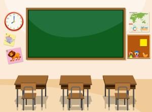 classroom vector interior clipart