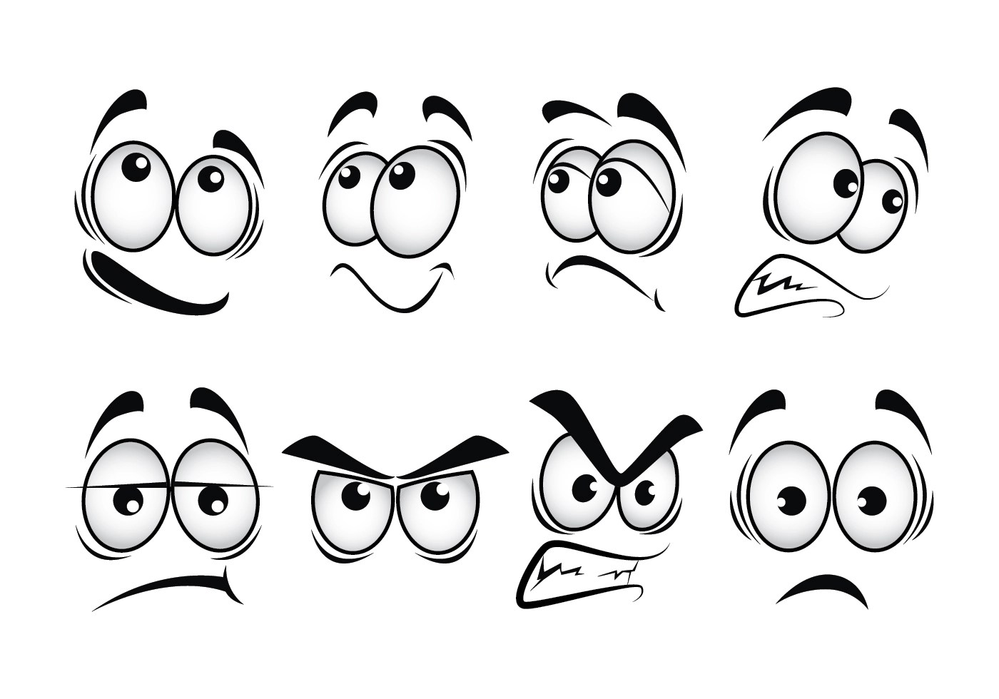 Cartoon Eyes Vector Set