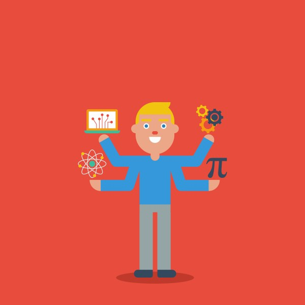 Stem Education Character Concept - Free Vector