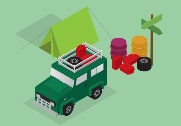Isometric Transportation Clip Art Set - Free