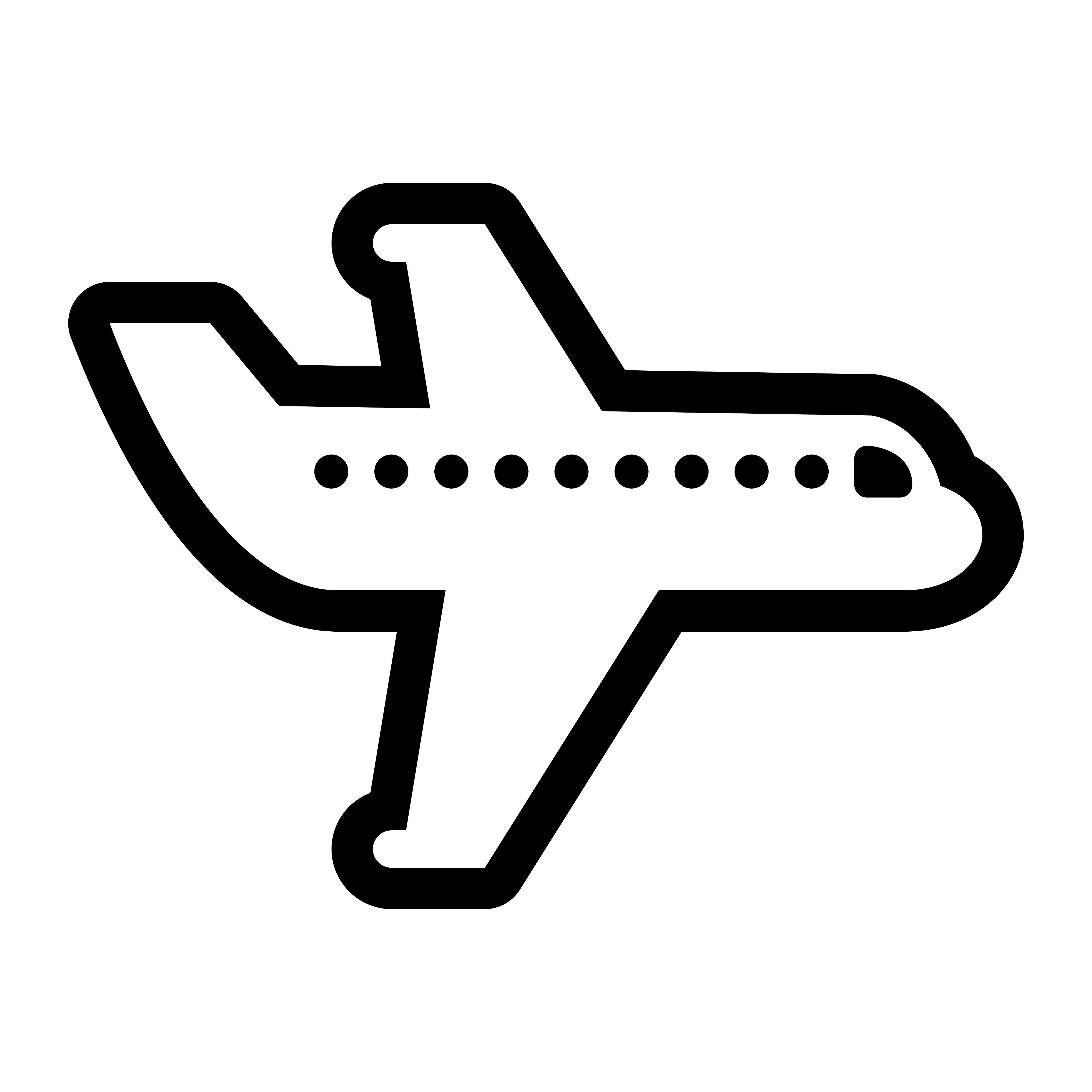 Airplane Flying Vector Icon