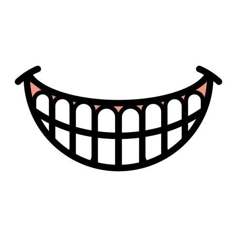 Big Happy Toothy Cartoon Smile vector icon - Download Free Vectors. Clipart Graphics & Vector Art