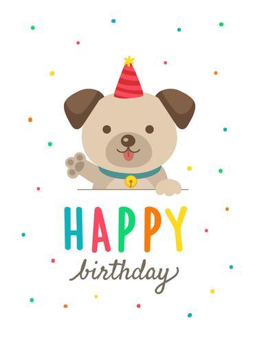 Happy Birthday Dog Clipart : happy, birthday, clipart, Birthday, Cards, Cartoon, 556225, Download, Vectors,, Clipart, Graphics, Vector