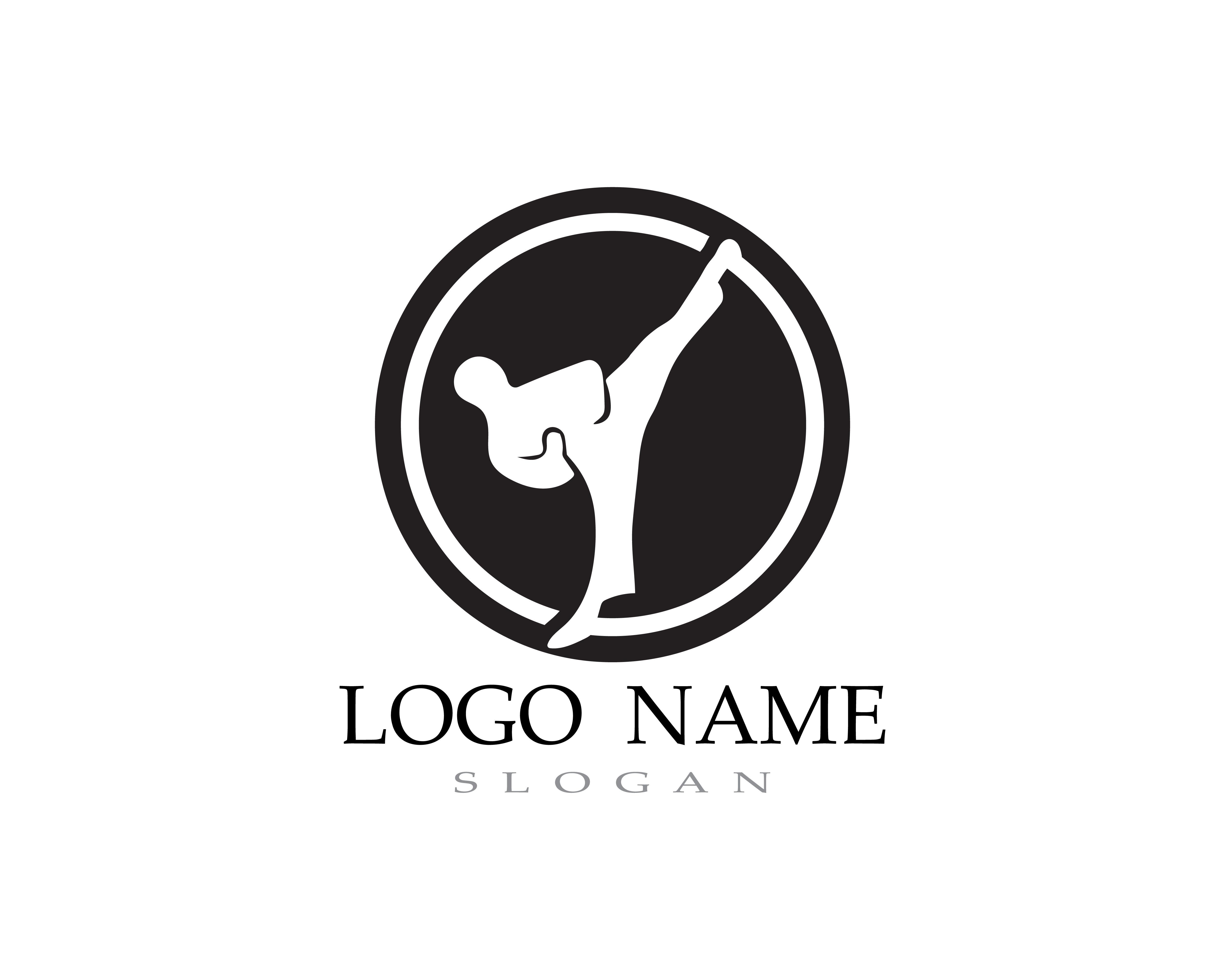 Karate And Taekwondo Logo Fight Vector
