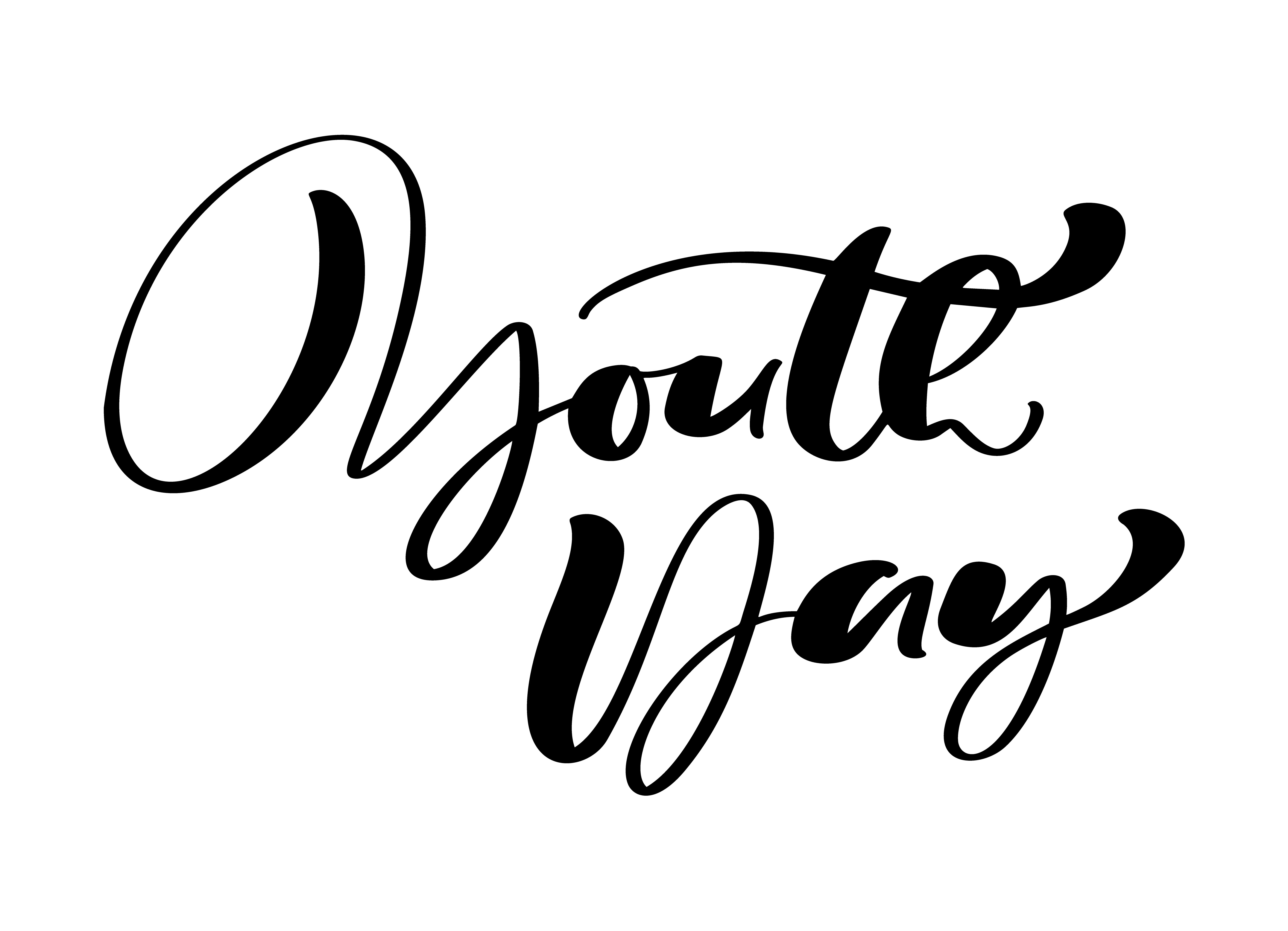 Youth Day Vector Calligraphy Lettering Phrase For