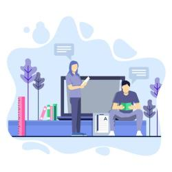 Men and women study together Education concept illustration Download Free Vectors Clipart Graphics & Vector Art